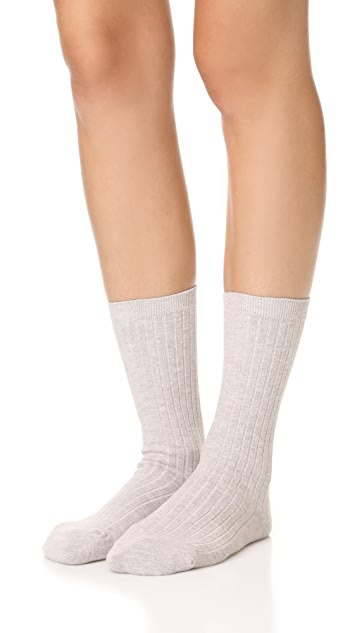 Madewell Two-Pack Ribbed Heather Trouser Socks