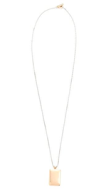 Madewell Demi-Fine Bronze Locket Necklace