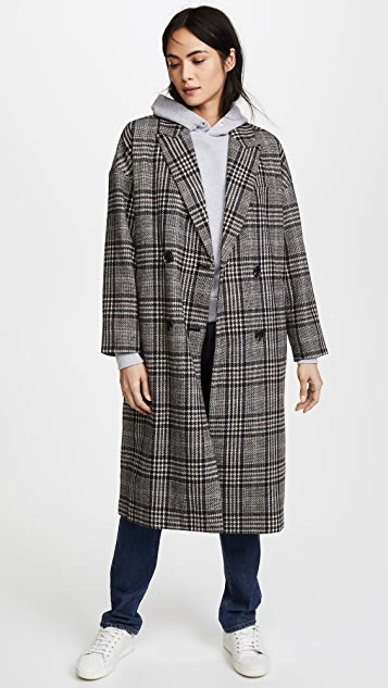 Madewell Speckled Tweed Coat