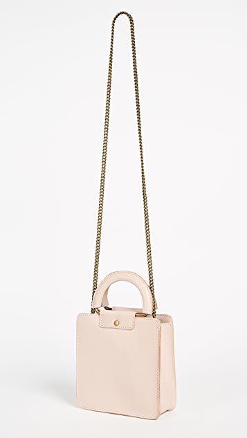 Madewell Square Cross Body Bag with Chain