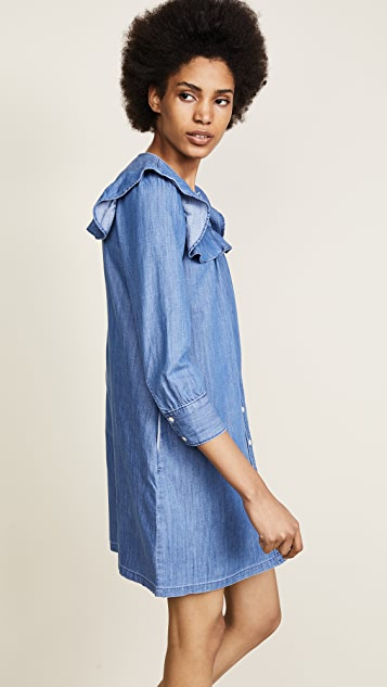 Madewell Ruffle Sleeve Denim Shirtdress