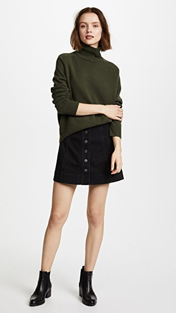 Madewell Denim Button Front Miniskirt