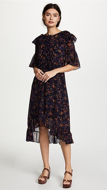 Madewell Juliet Raised Hem Midi Dress - Midnight