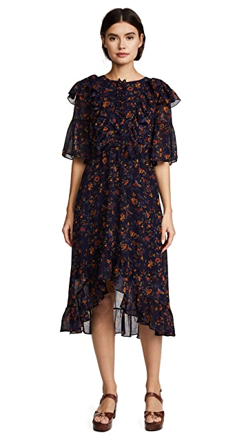Madewell Juliet Raised Hem Midi Dress