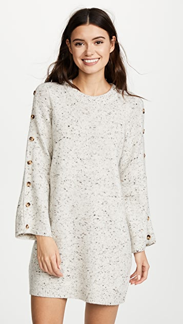 20cddbfae27 Madewell Donegal Button Sleeve Sweater Dress