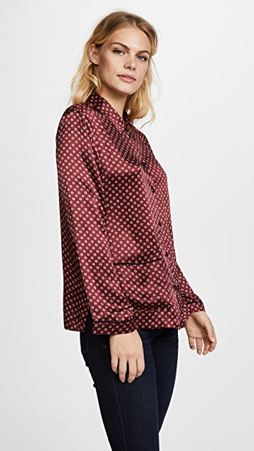 Madewell Oversized Silk PJ Top