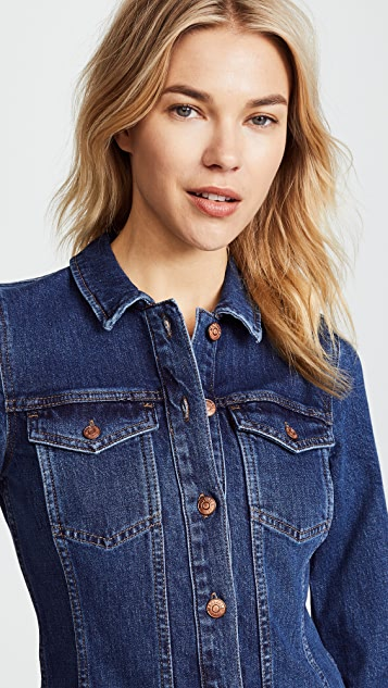 Madewell Denim Button Front Dress