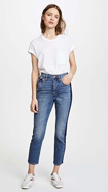 Madewell High Rise Slim Boy Jeans with Tux Stripe