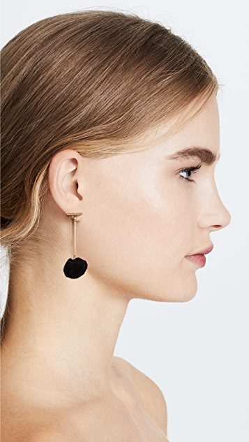 Madewell Pom Drop Earrings