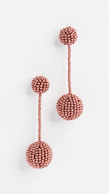 Madewell Beaded Party Earrings
