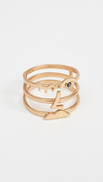 Madewell Face Value Cage Ring