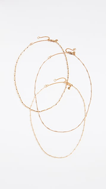Madewell Delicate Chain Necklace Layer Set