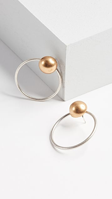 Madewell Mixed Metal Front Back Earrings