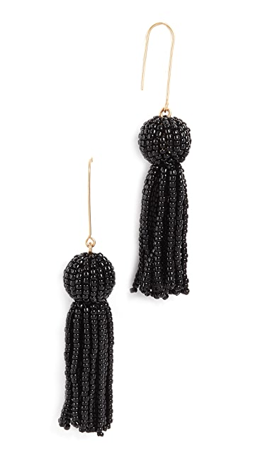 Madewell Beaded Tassel Earrings