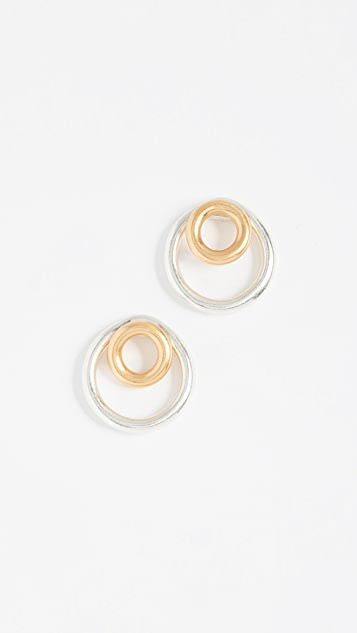 Madewell Front Back Circle Hoop Earrings