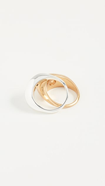 Madewell Sculpture Ring Set