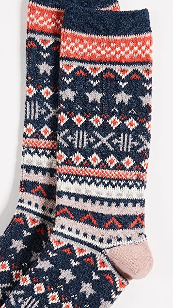 Madewell Faire Isle Trouser Socks