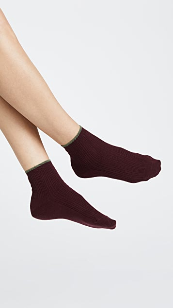 Madewell Cable Knit Night Sparkle Ankle Socks