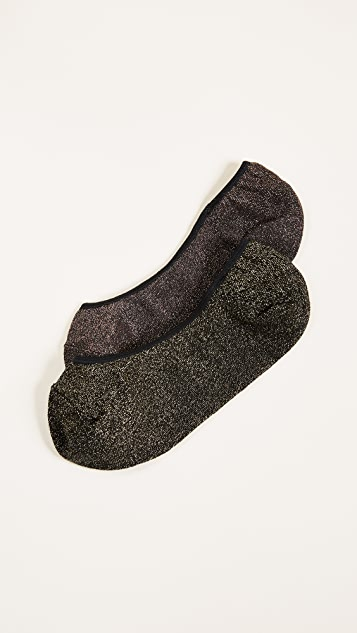Madewell 2 Pack Night Sparkle Low Profile Socks