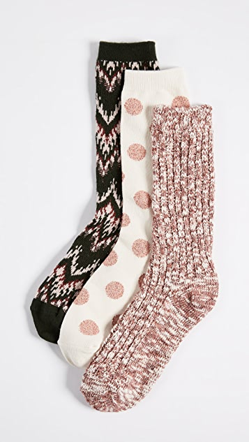 Madewell Ski Chevron Camp Sock Set of 3