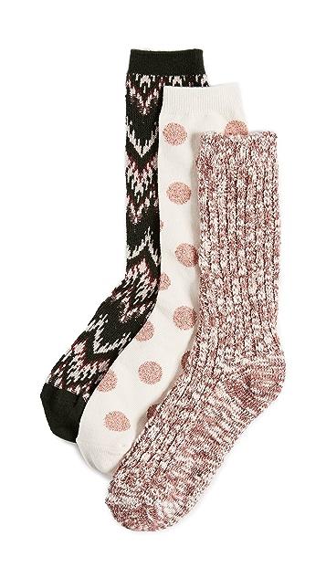 Madewell Ski Chevron Camp Sock Set of 3