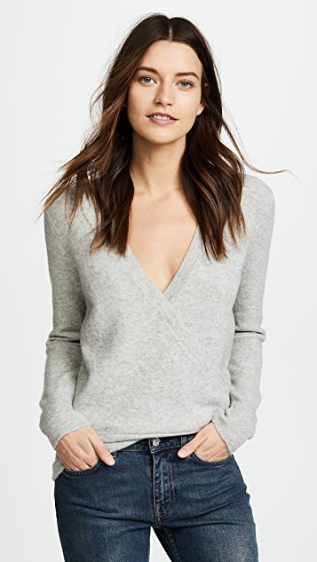 Madewell Wrap Front Pullover Sweater