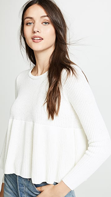 Madewell Swingy Ribbed Pullover Sweater
