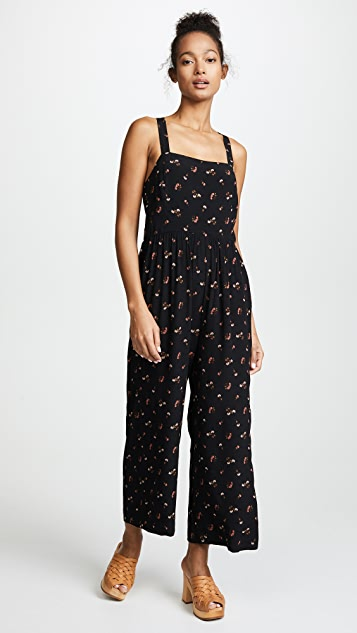 Madewell Smocked Crop Jumpsuit