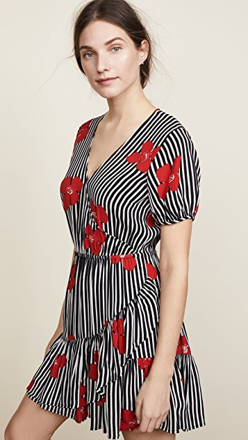 Madewell Bianca Ruffle Wrap Dress