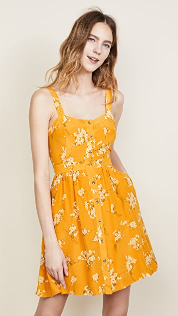 Madewell Silk Fleur Bow Back Dress Shopbop