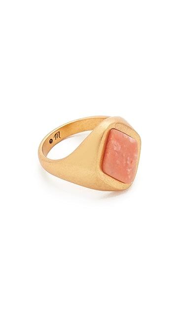 Madewell Pink Jade Signet Ring