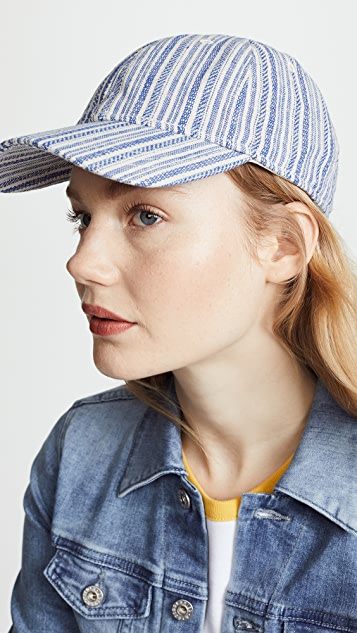 Madewell Textured Stripe Baseball Hat