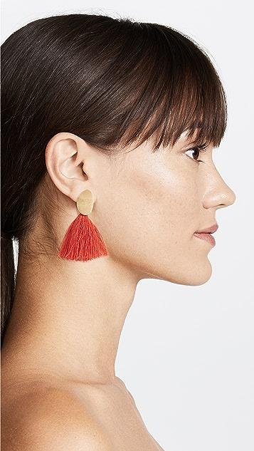 Madewell Curved Tassel Earrings