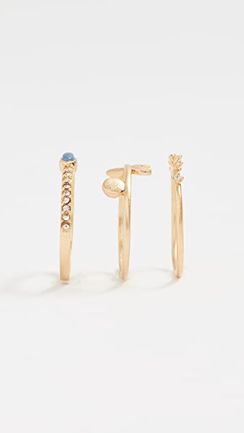 Madewell Shapes & Stones Ring Stack