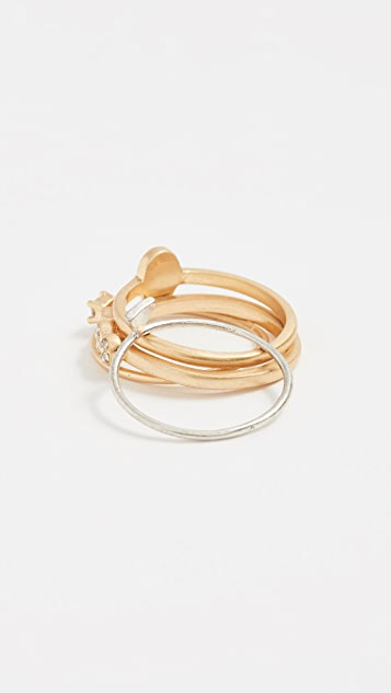 Madewell Enamel Ring Stack
