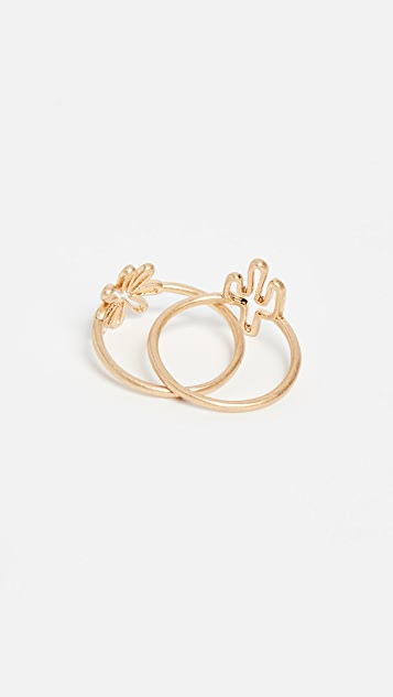 Madewell Cactus Ring Set