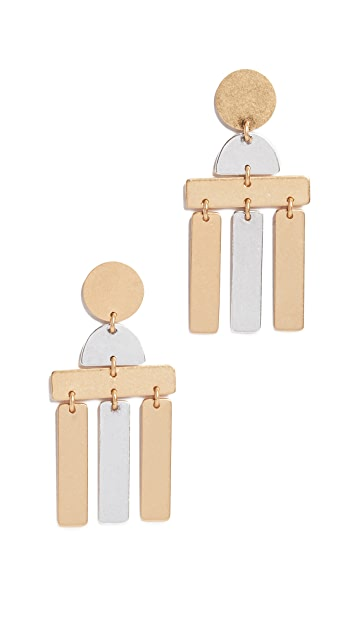 Madewell Flatform Statement Earrings