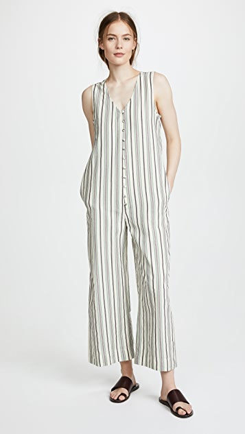 Stripe Apron Tie Jumpsuit by Madewell