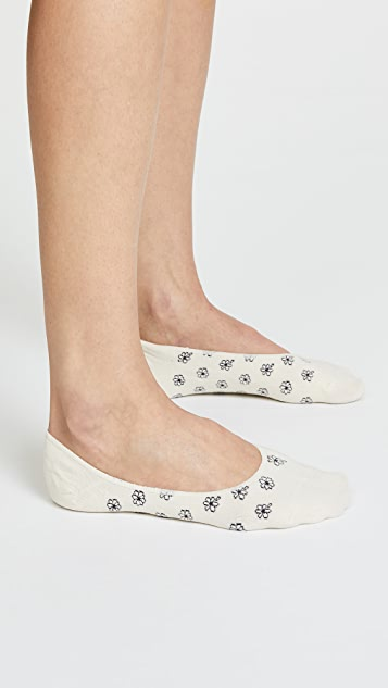 Madewell Daisy & Solid No Show Sock Set
