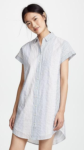 0118117815b Madewell Multistripe Central Shirtdress