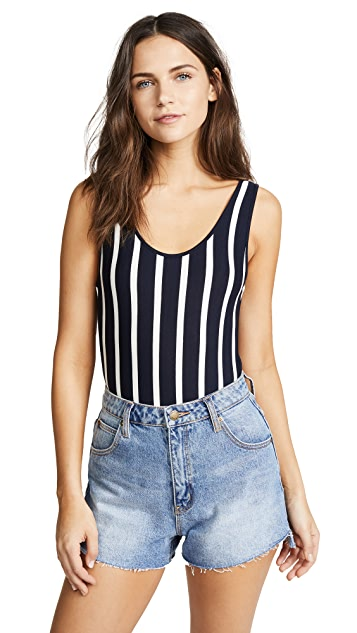 Madewell Billie Plunging Scoop Back Bodysuit