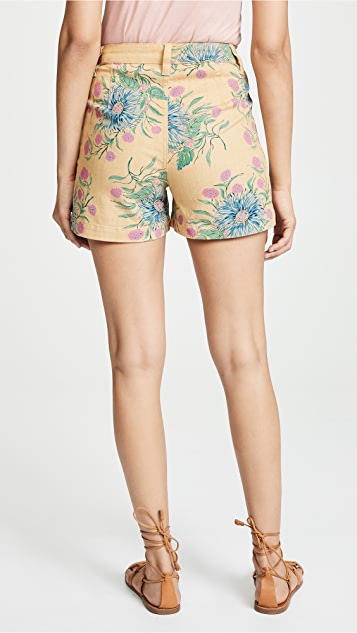 Madewell Monroe Shorts in Painted Blooms