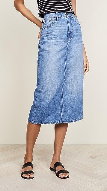 Madewell Midi Jean Skirt