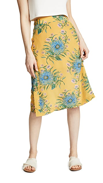 Madewell Painted Blooms Skirt