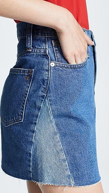 Madewell Reconstructed Jean Miniskirt