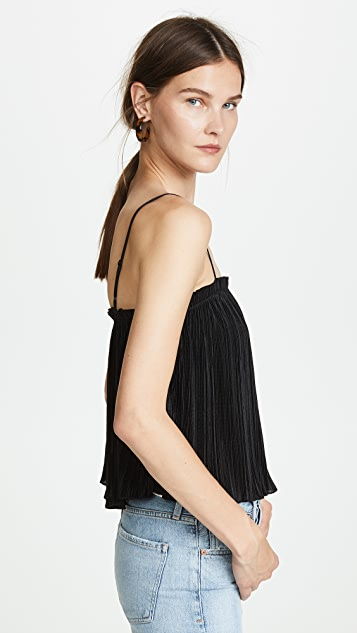 Madewell Texture & Thread Micropleat Tank Top
