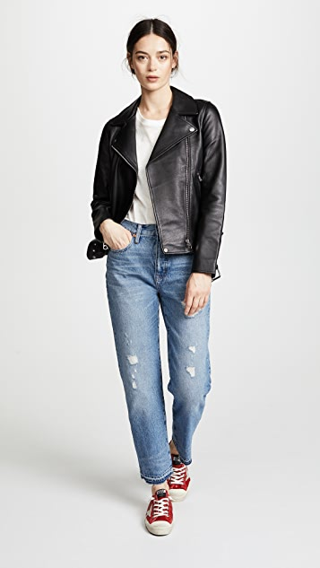 Madewell Destroyed Classic Straight Jeans
