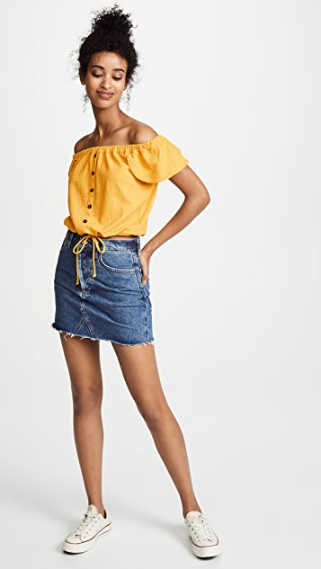 Madewell Texture & Thread Off-the-Shoulder Top