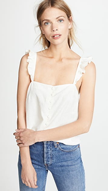 Ruffle Strap Cami Top by Madewell