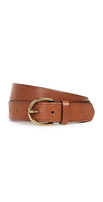 Madewell Medium Perfect Leather Belt - Pecan